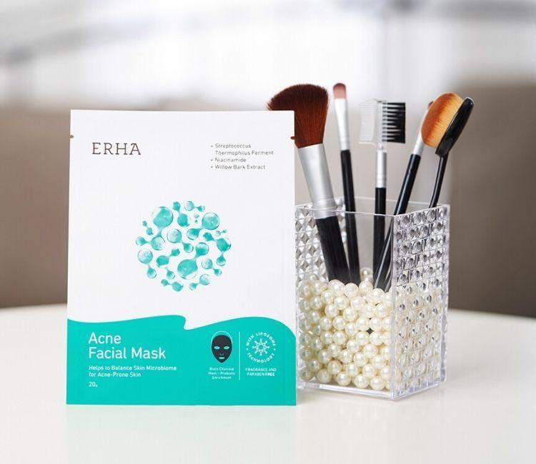 Maskeran Sambil Work From Home, Biar Muka Makin Kinclong! - Acne Facial Mask ERHA